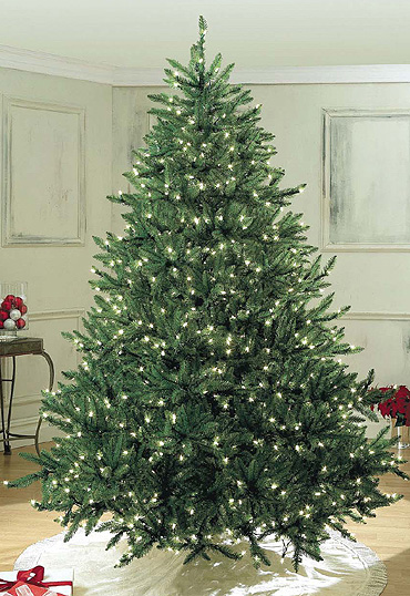 christmas tree with led lights - White Christmas Tree Lights