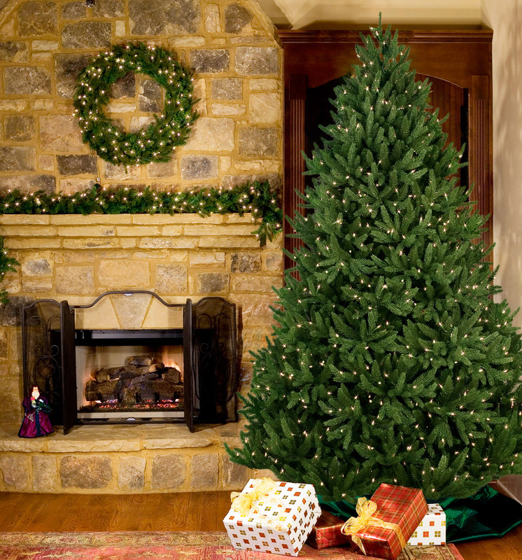 Artificial Christmas Trees Noble Fir Noble Fir Prelit Tree