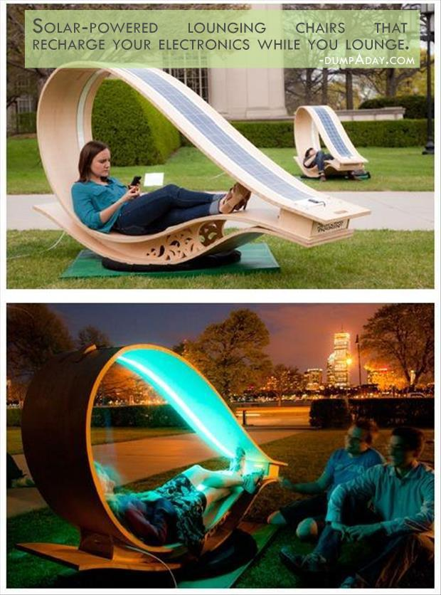 Solar Powered Lounging Chair